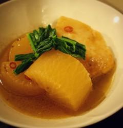 焼き大根と豚肉のスープ煮!