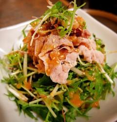 豚しゃぶと香味野菜のごまだれサラダ