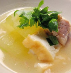 塩豚と厚揚げ、冬瓜の煮