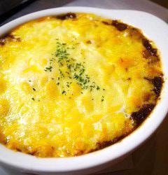 たまごとチーズのリトスタ焼きカレー!