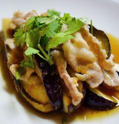 茄子と豚バラ肉のベトナム風蒸し