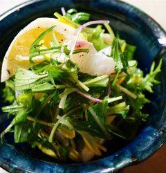 白身魚の昆布じめと小夏の柚子マリネ
