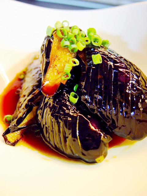 揚げ茄子の韓国風しょうゆ漬け